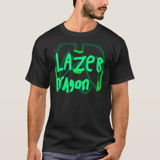 Vert de logo de dragon de Lazer T-shirt