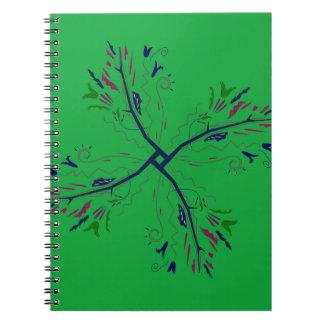 Vert de luxe d'art de mandala carnet