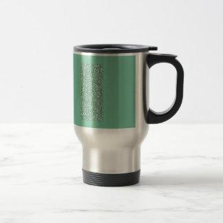 Vert de menthe avec le scintillement de faux mug de voyage
