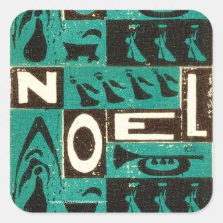 Vert de Noel Stickers Carrés