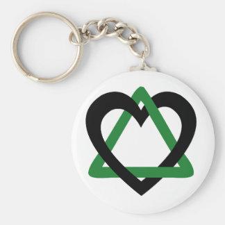 Vert de noir de triangle d'adoption porte-clé