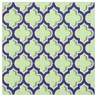 Vert de pistache, Marocain Quatrefoil #5DS de Tissu