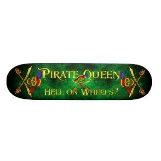 Vert de planche à roulettes d'enfer de la Reine de Mini Skateboard 18,4 Cm