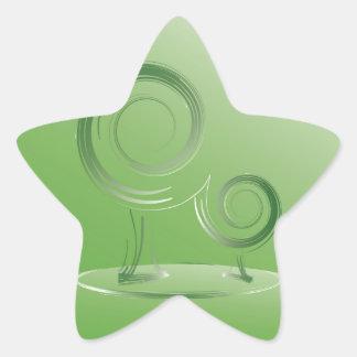 vert de planète sticker étoile