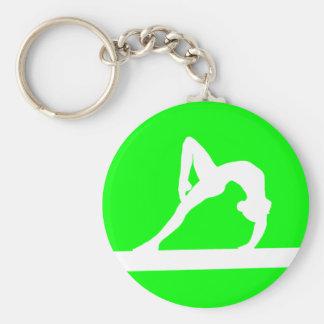 Vert de porte - clé de silhouette de gymnaste porte-clé rond