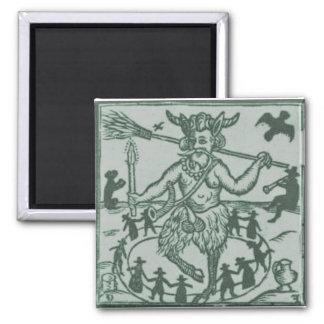 Vert de Robin Goodfellow (1629) - Magnet Carré