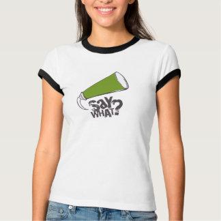 VERT de T-shirt de bulle de la parole de bande