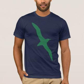 Vert de T-shirt d'oiseau d'albatros