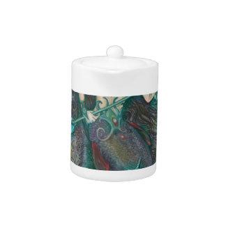Vert de Teal de mer d'océan de licorne de sirène