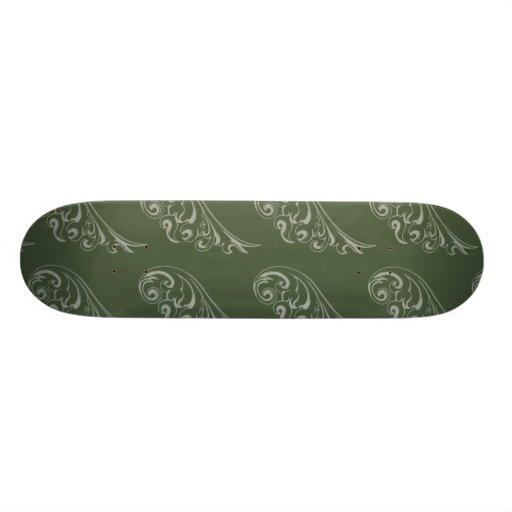 Vert de vert de motif de nouveau d'art skateoard personnalisé