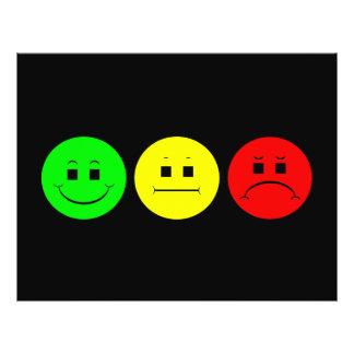 Vert déprimé de gauchiste de trio de feu d'arrêt prospectus customisé
