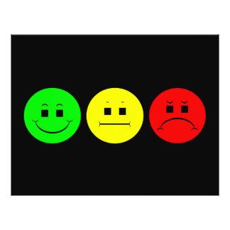 Vert déprimé de gauchiste de trio de feu d'arrêt prospectus 21,6 cm x 24,94 cm