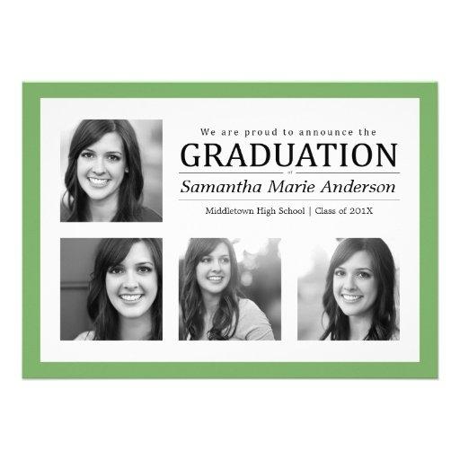Vert d'invitation d'obtention du diplôme de collag