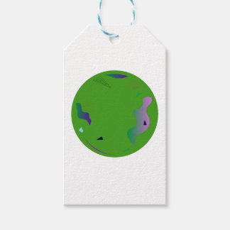 Vert d'OPALE. Illustration originale Étiquettes-cadeau