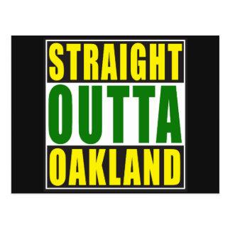 Vert droit d'Outta Oakland Carte Postale