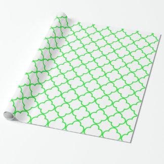 Vert du motif 1 de trèfle papier cadeau noël
