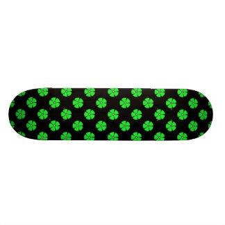 Vert du motif de fleur 2 skateboards cutomisables