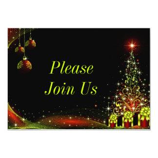 Vert du pays des merveilles de nuit de Noël Carton D'invitation 12,7 Cm X 17,78 Cm