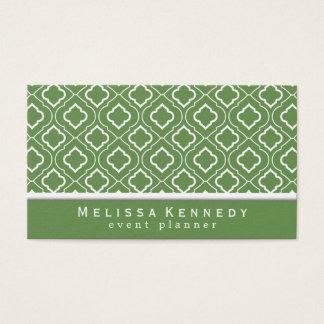 Vert élégant à la mode de cartes de visite de