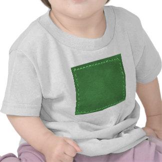 Vert élégant : Cadeaux artistiques simili cuir T-shirt