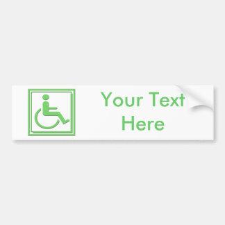 Vert élégant handicapé de symbole autocollant pour voiture