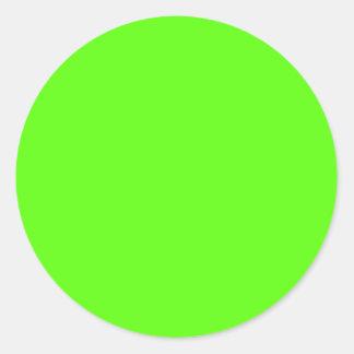 Vert élevé de néon de visibilité sticker rond