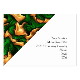 vert embrouillé de soie carte de visite grand format