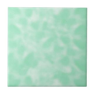 Vert en bon état et blanc chinés petit carreau carré