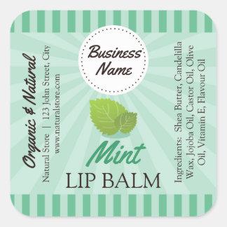 Vert en bon état - étiquette de baume à lèvres -