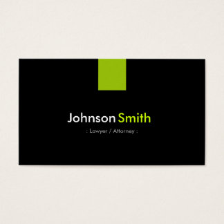 Vert en bon état moderne d'avocat/mandataire cartes de visite