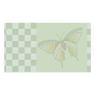 Vert en pastel 3 de carte de visite de papillon