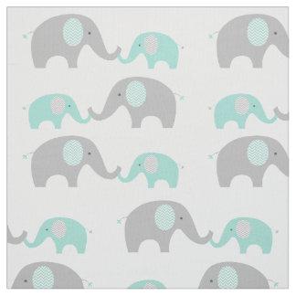 Vert et gris mignons de menthe de tissu d'éléphant