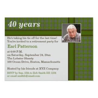 Vert et plaid de Brown, invitation de retraite