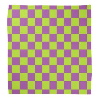 Vert et pourpre de chaux Checkered Bandana