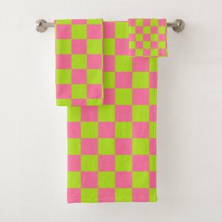 Vert et rose de chaux Checkered