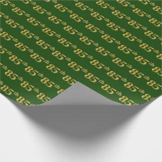 Vert, événement d'or de Faux 85th Papier Cadeau