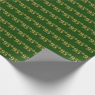 Vert, événement d'or quatre-vingt-quinzième de papier cadeau