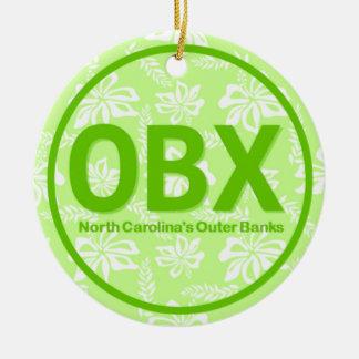 Vert externe personnalisé de la Caroline du Nord Ornement Rond En Céramique