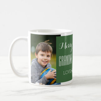 Vert fait sur commande de tasse de Noël de