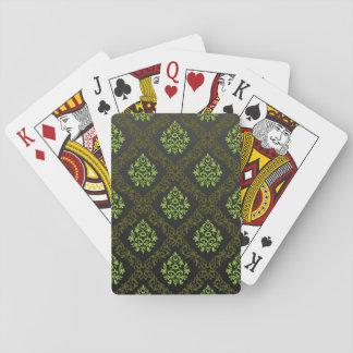 Vert floral de papier peint jeux de cartes