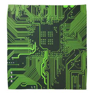 Vert frais d'ordinateur de bord de circuit bandanas