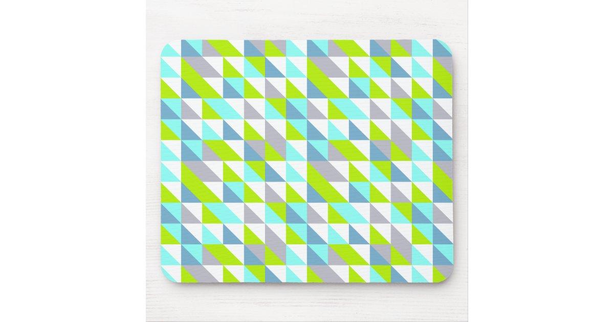 Vert g om trique motif gris blanc bleu de tapis de souris for Surface minimum bureau afnor
