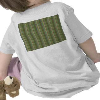 Vert imprimé par dos de motifs de vagues de t-shirt