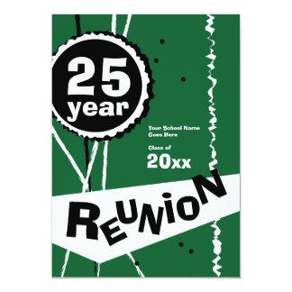 Vert invitation de la Réunion de classe de 25 ans
