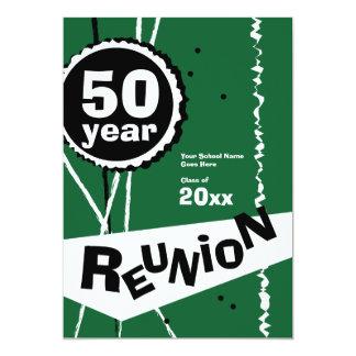 Vert invitation de la Réunion de classe de 50 ans