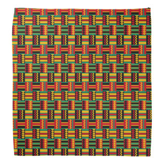 Vert jaune rouge de fierté africaine abstraite bandanas