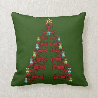 Vert laid de coussin de partie d'arbre de Noël de