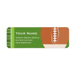 vert, le football, étiquettes de adresse de retour