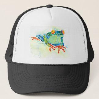 Vert lunatique de grenouille d'arbre casquette