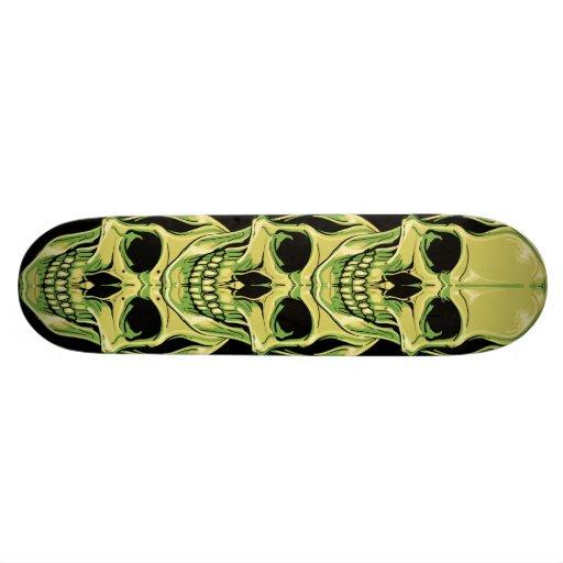 Vert mauvais grimaçant les crânes gothiques skateboards cutomisables